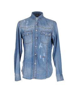 JUST CAVALLI Denim shirt. #justcavalli #cloth #top #pant #coat #jacket #short #beachwear