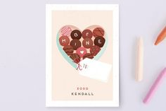 Cocco Classroom Valentine's Cards by chocomocacino at minted.com