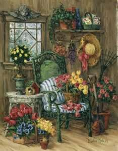 Barbara Mock painting