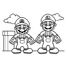 Mario bros coloring pages coloring pages pinterest for Super mario 64 coloring pages