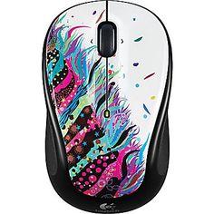 Logitech M325 Wireless Optical Mouse, Ambidextrous, Celebration Black…