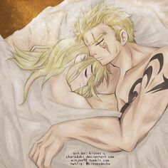 Next to You   A crack ship, LaLu (Laxus Dreyar x Lucy Heartfilia), fan art from Fairy Tail. The scar is on the wrong side but still cute.