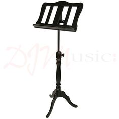 EMS Music Stand Georgian Single Black - The Georgian single is one of our most popular wooden music stands. Elegant yet simple this beautifully crafted wooden stand is designed in period style from solid wood.