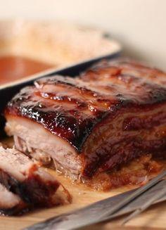 Low FODMAP & Gluten free Recipe - Sticky slow-roast belly of pork http://www.ibssano.com/low_fodmap_recipe_slow_roast_pork_belly.html