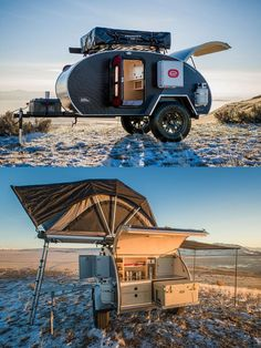 , Best Teardrop Camper Designs For Adventure Travel , This teardrop trailer has some of the coolest off road accessories for camping and adventure travel. Lots of ideas and organization hacks in this diy . Small Camper Trailers, Camper Trailer For Sale, Off Road Trailer, Small Campers, Vintage Campers Trailers, Trailers For Sale, Small Trailer, Small Rv, Camping Trailer Diy