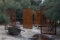 Beautiful corten steel panels for the garden