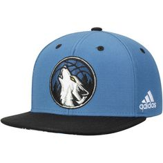factory authentic d3630 07b65 Youth adidas Blue Black Minnesota Timberwolves On Court Snapback Hat