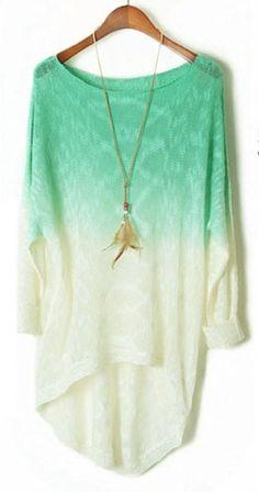 Generic Women Gradient Batwing Long Sleeve Loose Knitted Sweater TRURENDI http://www.amazon.com/dp/B00F4PPUMO/ref=cm_sw_r_pi_dp_HNFeub1FD6R23