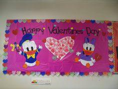 valentine`s bulletin board