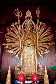 Japanese Mythology, Buddha Sculpture, Guanyin, Buddhist Art, Sculptures, Spirit, Statue, Christmas Ornaments, Holiday Decor