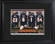 Chicago Bears Locker Room Photo