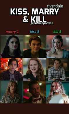 Marry~Jughead Kiss~ Betty , Veronica , and Archie and kill the rest sorry lmao Riverdale Quiz, Riverdale Poster, Riverdale Netflix, Riverdale Quotes, Riverdale Cheryl, Riverdale Funny, Riverdale Cast, Stranger Things, Riverdale Cole Sprouse