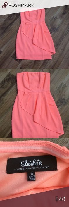 ✨NWOT✨ Beautiful Dress from LuLu's ✨NWOT✨ Beautiful Dress from LuLu's, light coral colored. This dress is so pretty, but I never had a chance to wear it. 95% polyester/5% spandex. Lulu's Dresses Mini