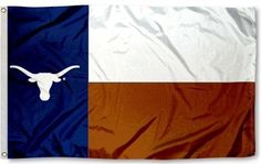 Texas Longhorns Flag State of Texas 2 Sided 3x5 Flag by Sewing Concepts. $38.00. Great outdoor nylon flag - this is a State of Texas flag with a longhorn on it letting all other Texas teams know that is a Longhorn State!