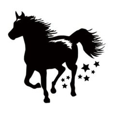 "Style and Apply Horse Wall Decal Size: 46"" H x 45"" W, Color: Black"