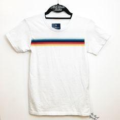 "BNWT white 23"" rainbow top 23"" in length Brandy Melville Tops Tees - Short Sleeve"