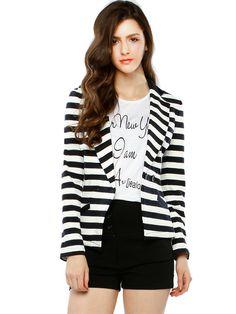 striped blazer.