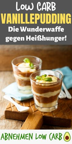 Mega delicious and easy to prepare! This low carb vanilla p . Dieses Low Carb Vanillepudding Rezept ist ei… Mega delicious and easy to prepare! This low carb custard recipe is just amazing! Healthy Party Snacks, Healthy School Snacks, Healthy Snacks For Diabetics, Easy Snacks, Keto Snacks, Keto Friendly Desserts, Low Carb Desserts, Health Desserts, Low Carb Recipes