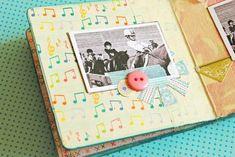 inside of mini album made w coasters!