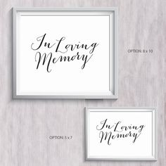 """Wedding Loving Memory Sign - Black - 8x10 - 5x7 - Wall Artwork - Instant Download by mormonlinkshop  5.00 USD  In Loving Memory Signs are perfect for weddings. Hang this now and be inspire all the time together with your husband/wife! In Loving Memory - Those we love don't go away they walk beside us everyday. Unseen unheard but always near. Still loved still missed and very dear. Happy Wedding Day! """"Two Souls but a single thought Two Hearts that beat as one ."""" John Keals The JPEG PDF and…"""