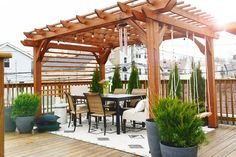 The Rooftop Pergola Reveal! - Yellow Brick Home