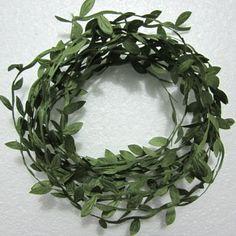 5-50-yard-pretty-Embossed-Vine-Leaf-craft-diy-A247