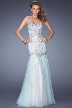 2014 Sweetheart Embellished Bodice With Rhinestone And Applique Mermaid Floor Length Tulle