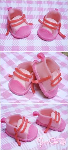 My new creation: baby shoes in cold porcelain! :)