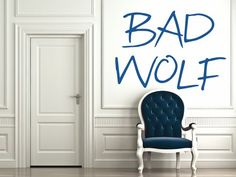 Bad Wolf - Doctor Who Wall Decal - Small   GeekeryMade - Housewares on ArtFire
