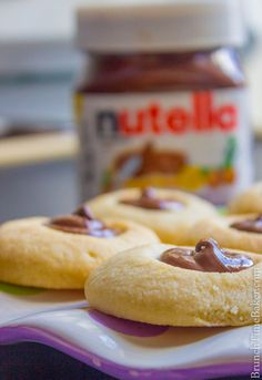 5 Ingredient Nutella Thumbprint Cookies - Brunch Time Baker