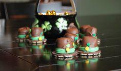 St. Patrick's day food idea- leprechaun hats. Adorable!