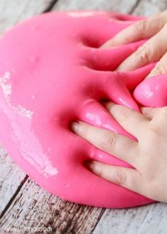 Homemade Gak! It is so EASY and literally takes 2 minutes to make, but has provided HOURS  of entertainment for the kids!
