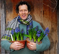 Blooming fabulous: Monty with his hyacinths - how to grow from year to year