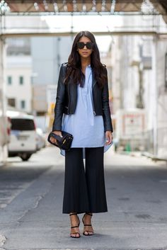 Yesterday's Trends That Are Making A Surprising Comeback #refinery29  http://www.refinery29.com/retro-trends#slide-1  You used to wear your stretchy jersey culottes folded over with flip flops and a lace tank. Instead, try more streamlined layering pieces and va-va-voom accessories....