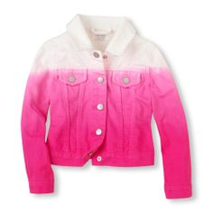 Children's Place ombre jacket.  So adorable on! I get a size bigger with their clothes and just rollled up these sleeves a little.