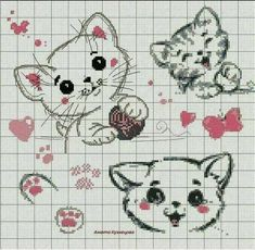 Crochet animals 428897564500708935 - Source by Cat Cross Stitches, Cross Stitching, Cross Stitch Embroidery, Embroidery Patterns, Cross Stitch Boards, Mini Cross Stitch, Cross Stitch Animals, Cross Stitch Designs, Cross Stitch Patterns
