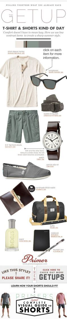 Thanks to Primer Magazine for showcasing the Tagsmith Bifold wallet in this feature. Summer Getup Week: T-shirt & Shorts Kind of Day - Primer