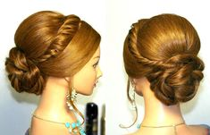 Wedding prom updo, hairstyles for long hair. Свадебная прическа, прическ...