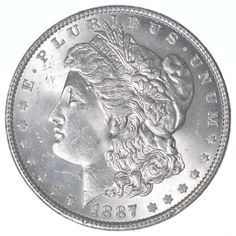 1887 Morgan Silver Dollar Coin Uncirculated FREE SHIPPING