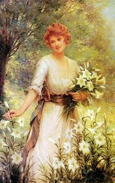 "Frederick Morgan, ""Picking Wild Flowers"""
