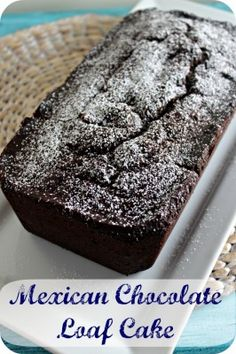 Mexican Chocolate Loaf Cake | Cooking In Stilettos