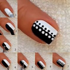 5 Easy Nail Art Designs for Beginners at Home is part of Summer Matte nails Beauty Products - We introduce five nail tutorials for beginners which are so simple nail designs that are perfect for all beginner ladies to do at home Dot Nail Art, Nail Art Diy, Diy Nails, Cute Nails, Manicure Ideas, Nail Art Dotting Tool, Nail Art Tools, Simple Nail Art Designs, Easy Nail Polish Designs