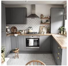 Country Kitchen Designs, Kitchen Room Design, Modern Kitchen Design, Home Decor Kitchen, Interior Design Kitchen, Diy Kitchen, Home Kitchens, Small Kitchen Cabinet Design, Very Small Kitchen Design