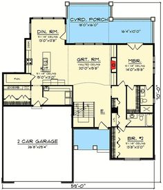 2 Story Craftsman with Covered Porch - 89995AH | 1st Floor Master Suite, Butler Walk-in Pantry, CAD Available, Craftsman, Loft, PDF | Architectural Designs