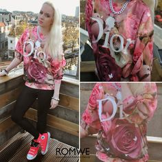 Rose D on street, by Jenny Burgartz @ROMWE I love this one!