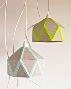 DIY Neon Pendant Lamps. Download template and construct!