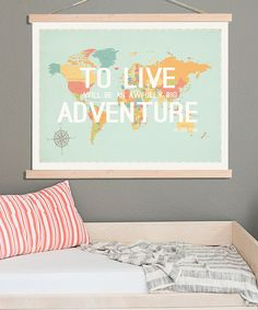 Look what I found on #zulily! 'To Live' Print & DIY Frame Kit by Fresh Words Market #zulilyfinds