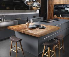 Kitchen Room Design, Modern Kitchen Design, Interior Design Kitchen, Small Modern Kitchens, Kitchen Benches, Kitchen Dining, Kitchen Cabinets, Küchen Design, Beautiful Kitchens