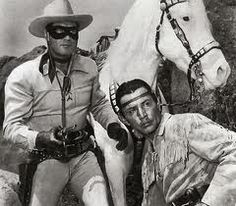 Lone Ranger and Tonto.  The Lone Ranger kicked up a lot of dust with that horse of his.  :)