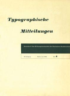 Cover Typographische Mitteilungen, 29. Jahrgang, Heft 6, Juni 1932.